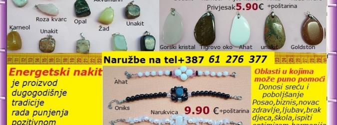 Energetski nakit  od kristala minerala i poludragog kamenja